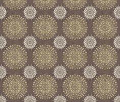 Mandala1-Grey_background-01 fabric by groovity on Spoonflower - custom fabric