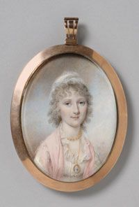 Portrait of Maria Bassett  (Portrait of a Young Lady of the Bassett family) - 1801  Made in Philadelphia, PA, United States  Artist: James Peale (American, 1749-1831)  watercolor on ivory  Philadelphia Museum of Art