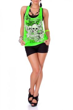 Skull Top (a favourite gothic punk clothes repin of VIP Fashion Australia )
