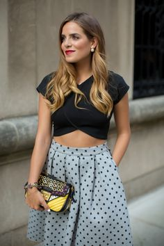 Gal Meets Glam- Polka Dot Skirt