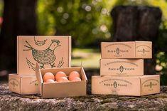 Cerezas de Tul: PAZO DE VILANE Food Box Packaging, Clever Packaging, Organic Packaging, Brand Packaging, Tienda Natural, Carton Design, Organic Market, Farm Shop, Egg Designs