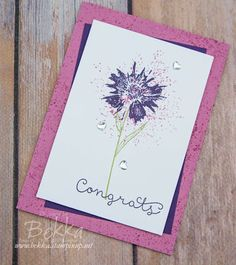 Stampin' Up! UK Feeling Crafty - Bekka Prideaux Stampin' Up! UK Independent Demonstrator: Make in a Moment Monday - Touches of Texture Congratulations Card