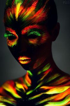 glow in dark people paint | Glow in the Dark Body Paint ...XoXo | Fantasy Hair/Makeup/Masks