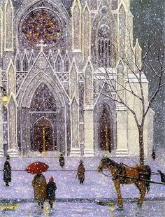 St. Patrick's in NYC at Christmas time <3