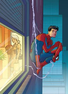 Aunt May & Peter Parker by Pasqual Ferry #Spider-Man