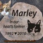 engraved cat memorial stone ontario