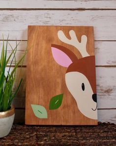 Your place to buy and sell all things handmade Kids Canvas Art, Baby Canvas, Woodland Forest, Woodland Theme, Woodland Baby, Tree Tapestry, Wall Tapestry, Woodland Creatures, Vinyl Crafts