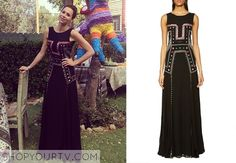 Fiona (Minnie Driver) wears this boho embroidered gown in this week's episode of About a Boy.