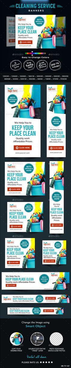 Cleaning Company Banners Template PSD | Buy and Download: http://graphicriver.net/item/cleaning-company-banners/9443756?WT.oss_phrase=&WT.oss_rank=16&WT.z_author=doto&WT.ac=search_thumb&ref=ksioks