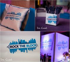 5 Ideas for a Bar & Bat Mitzvah Name Theme - Block Party by Ira Casel Photography - mazelmoments.com