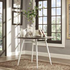 Belita Mid-century Two-tone Modern Wood Dining Table