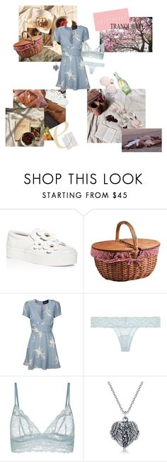 """""""(lovebirds picnic) 🥐🕊"""" by glowingsilk ❤ liked on Polyvore featuring Marc Jacobs, Picnic Time, Luella, La Perla and Bling Jewelry"""