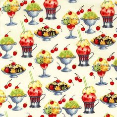Sundaes Michael Miller Fabric Half Yard