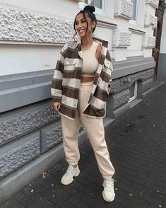 Trendy Fall Outfits, Cute Comfy Outfits, Casual Winter Outfits, Winter Fashion Outfits, Retro Outfits, Look Fashion, Stylish Outfits, Street Fashion, Comfy Travel Outfit