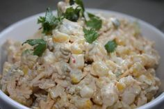 Best Mexican Cheese Corn Dip Ever  Ingredients:  3 (11 ounce) cans mexicorn whole kernel corn, drained  2 cups shredded cheddar cheese  1 (7 ounce) can diced green chilies  2/3 cup green onion, chopped  3/4 teaspoon ground cumin  1/2 teaspoon black pepper  3/4 cup mayonnaise  1 (8 ounce) container sour cream