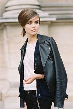 awesome moto moment. #SashaBaldina #offduty in Paris. #VanessaJackman