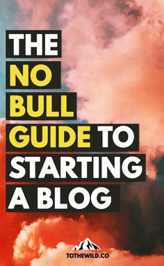 Start a Blog: The No Bull Guide | Install WordPress Using SiteGround with 3 Clicks