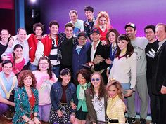 Cast of HEATHERS The Musical with Christian Slater. Including understudies for Dan Domineck (JD not in costume) and Charissa Hogeland (Heather Chandler in costume)