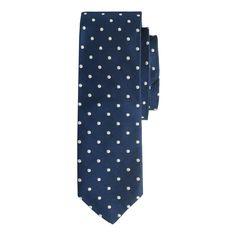 Italian silk repp tie in dot : ties | J.Crew