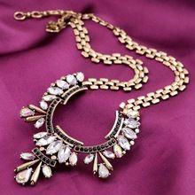 Lua de Punk Shourouk flor banhado a ouro liga colar Chains declaração Bib colares novo 2015 do Vintage jóia das mulheres por atacado N284(China (Mainland))