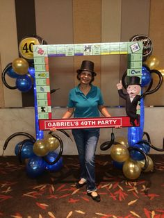 Monopoly party, photo booth, 40th birthday party