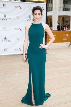Emmy Rossum in Lanvin - American Ballet Theatre 2014 Opening Night Spring Gala