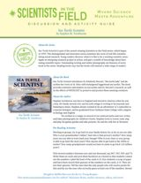 Sea Turtle Scientist Discussion & Activity Guide with Common Core Connections (Grades 5-8) https://www.teachervision.com/nonfiction/printable/74989.html #nonfiction #animals