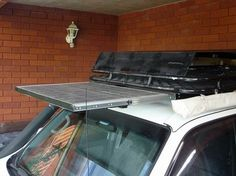 Mounting Solar Panels with drawer sliders on Roofracks