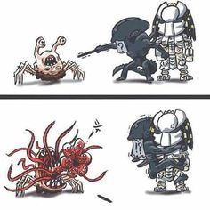 #spider #The thing #alien #predator by Sean Welsh