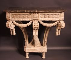 "Exceptional #console #Florentine Renaissance.. It probably comes from the famous ""Duomo"" in Florence. The particular style is characteristic of the beginning of the Tuscan Renaissance and can be #attributed to Leonardo #Da #Vinci. #16th century. For sale on Proantic by Antiquités Philippe Glédel."