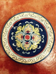 Prato em cerâmica estilo italiano! Marina Mendes
