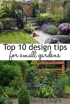 10 design tips to make the most of small garden spaces. Use these garden designer tips and tricks for small gardens