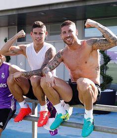Ramos and James Real Madrid
