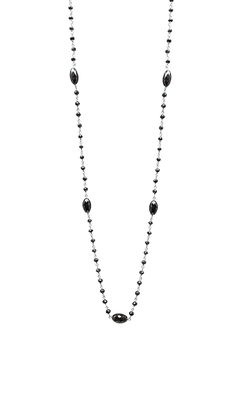 10CT Black Diamond 14K White Gold Rosary Bead with Marquise by TIAARA
