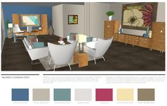 Wellspring Counseling Office by Birch Tree Design - nice color palette!