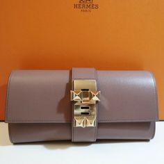 HERMES POCHETTE MEDOR 23 GRIOLET PERMABRAS HARDWARE Hermes Kelly Bag, Bangles, Bracelets, Continental Wallet, Vintage Fashion, Hardware, Couture, Ebay, Detail