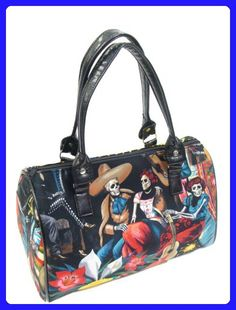 caaf621ec45b top handle bags: US Handmade Fashion Fiesta DE San Marcos Day Of The Dead  Rockabilly Halloween Gothic Doctor Bag Satchel Style Handbag Purse Cotton  Fabric,
