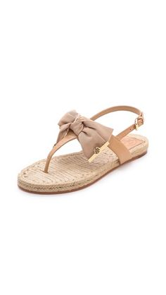 Tory Burch espadrilles off with code Pretty Shoes, Beautiful Shoes, Cute Shoes, Me Too Shoes, Bow Flats, Shoes Sandals, Flat Sandals, Tory Burch Sandals, Beige