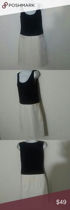DKNY Colorblock Dress, Size 8 Beautiful DKNY cotton/ elastane colorblock dress in size 8. Looks brand new. Top is perfectly stretchy and bottom is crisp linen. DKNY Dresses Midi