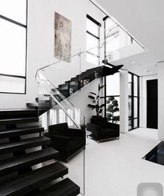 30 Luxury Staircase Design Ideas For Modern House Interior Design Minimalist, Minimalist Home, Modern House Design, Home Interior Design, Interior Architecture, Interior Decorating, Contemporary Interior, Luxury Interior, Decorating Ideas