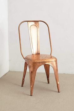 Spray paint our chairs, metallic  Redsmith Dining Chair - anthropologie.com