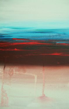 Large Abstract Painting Minimalist Desert by heatherdaypaintings