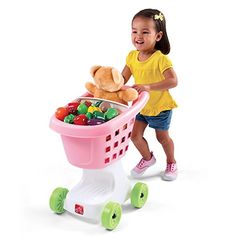 Step2 Little Helpers Shopping Cart for Kids  Durable Plastic Pretend Play Shopper Trolley Toy Pink -- You can find out more details at the link of the image.Note:It is affiliate link to Amazon.