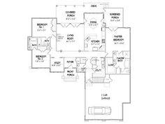 thehouseplanshop.com Plan # 049H-0007 2240 sq ft 3 BR/3.5 BA Craftsman