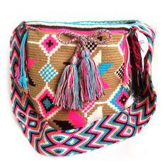 Rucksack Wayúu. 100 % kolumbianische, gemacht von den Eingeborenen Indianern in La Guajira.