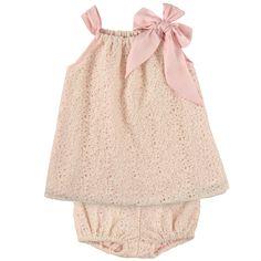 Billieblush Robe bain de soleil et petite culotte en dentelle et doublure coton - Rose pâle - 102823 | Melijoe.com
