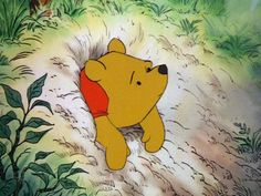 The Many Great Moments From The Many Adventures of Winnie the Pooh | When Pooh gets stuck in Rabbit's house.