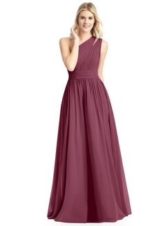 1a80b2a9f9c Azazie Molly in Mulberry Wine Color Bridesmaid Dress