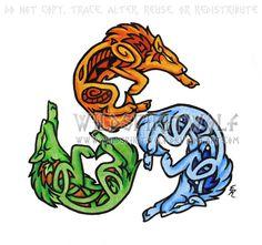 Element Wolf Triskele Tattoo by WildSpiritWolf.deviantart.com