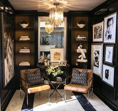 How To Pick The Right Accent Chair In A Dark Interior / interior design, accent chairs, chair design Home Office Design, Home Interior Design, Interior Decorating, House Design, Design Design, Detail Design, Interior Colors, Decorating Games, Design Files